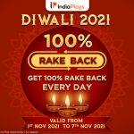 Sign-up On IndiaPlays & Get 100% Rakeback This Diwali