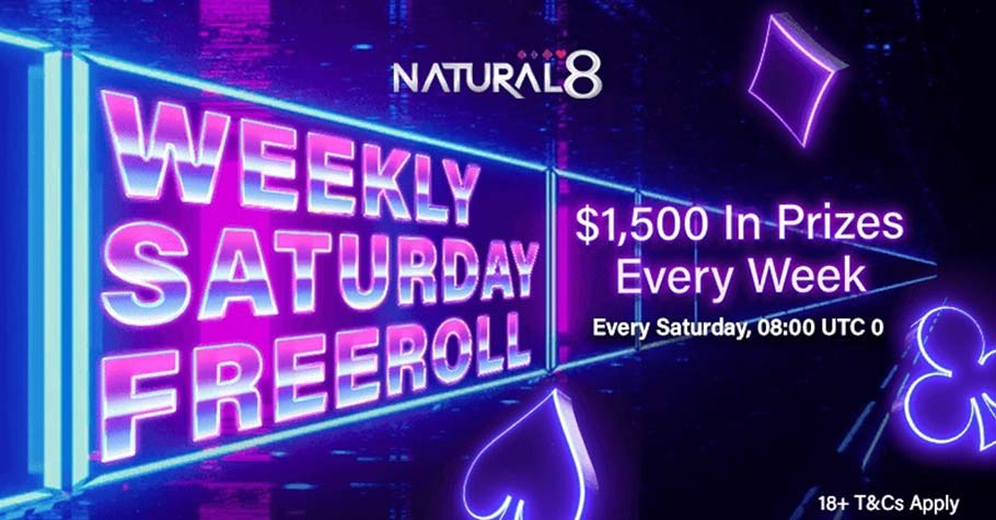 Win $1500 In Prizes With Natural8's Weekly Saturday Freeroll