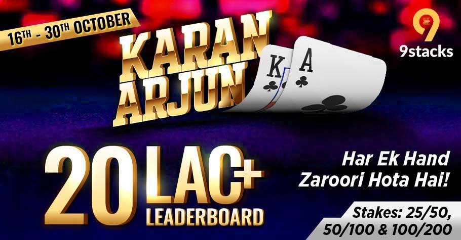 Karan Arjun 3.0 Has Returned On 9stacks With 20 Lakh+ Leaderboard