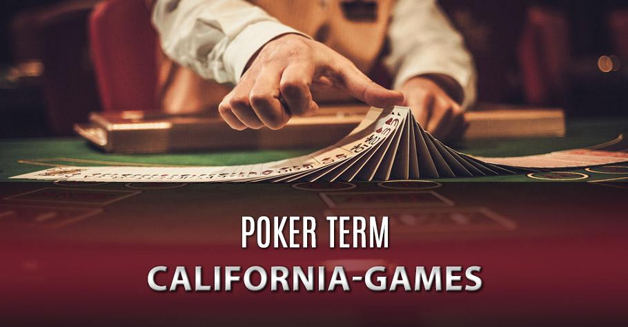 Poker Dictionary - California Games