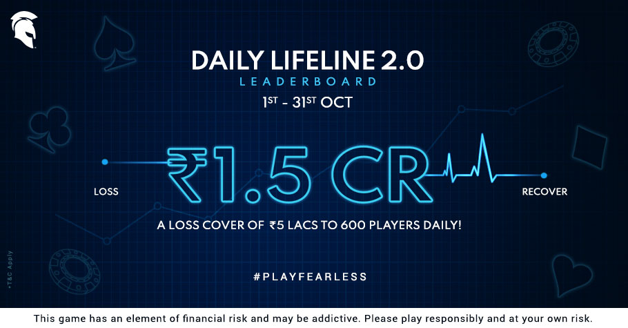 Spartan Poker's Daily Lifeline Leaderboard 2.0 Puts 1.5 Cr On Offer & More