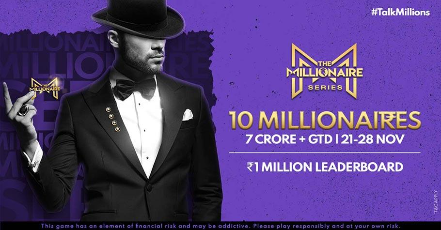 Spartan Poker's 7 Crore GTD Millionaire Series Coming Soon This November