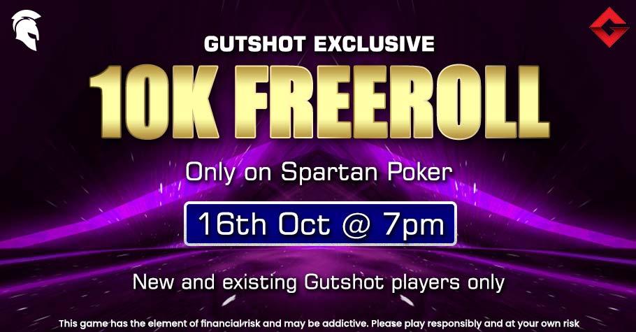 Extend Your Festivities With Gutshot Exclusive 10K Freeroll On Spartan Poker